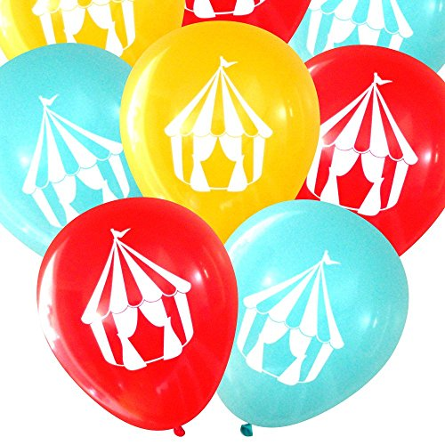 Carnival Circus Tent Balloons (16 pcs) by Nerdy (Carnival Themed 1st Birthday)