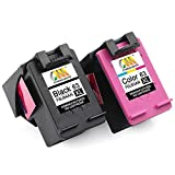 CMCMCM Remanufactured Ink Cartridges for HP 63 XL 63XL Combo Pack Use in Envy 4520 4522 4516 4512 OfficeJet 4650 3830 3831 DeskJet 3630 3632 3634 2130 1112 2132 Printer ( 1Black + 1Color)