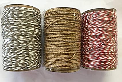 Garden Twine Or Gift Wrapping Use As Bakers Twine 3 x 20m Twine Assorted