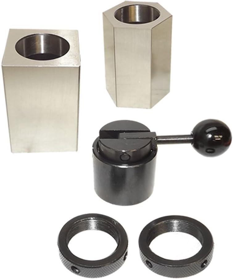 Steel 5C Collet Block Set Square Hex Collet Block Rings /& Lever Collet Closer