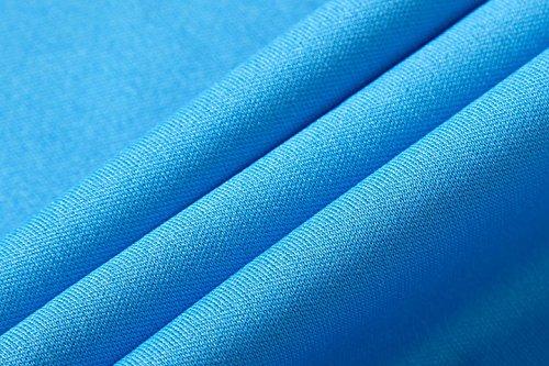 Jeansian Uomo Asciugatura Rapida Sportivo Casuale Slim Sports Fashion Tee T-Shirts Camicie LSL3209 (US S/Label M, LSL137_Blue)