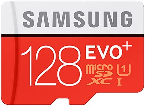 Samsung Micro SD EVO+ 128GB Memoria Flash MicroSDXC Clase 10 UHS-I - Tarjeta de Memoria (128 GB, MicroSDXC, Clase 10, UHS-I, 80 MB/s, Rojo, Blanco)