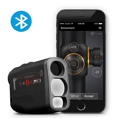 ATN Laser Ballistics 1000 Smart Laser Rangefinder w/Bluetooth, Device Works with Mil and MOA scopes Using Ballistic Calculator App