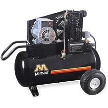 Mi-T-M AM1-PE02-20M Portable Air Compressor, 20-Gallon, Single Stage