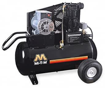 Mi-T-M AM1-PE02-20M Portable Air Compressor, 20-Gallon, Single Stage