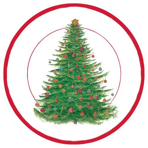 Tree Trimming Party (Christmas Paper Plates Holiday Party Tree Trimming Office Christmas Party Dessert Plate Pk)