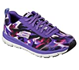 Skechers Work Relaxed Fit Comfort Flex Pro HC SR Womens Slip Resistant Sneakers Purple/Multi 6.5