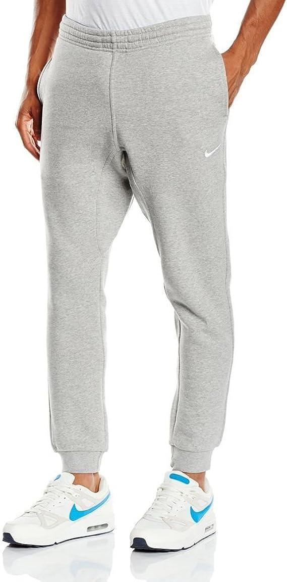 Nike Mens Fleece Tapered Pants Club Swoosh Sweatpants, Grey ...