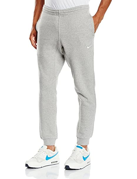 e22a804157d1c3 Nike Men's Fleece Tapered Pants Club Swoosh Sweatpants Grey 826431 063  (Medium)