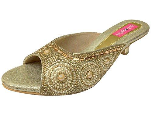 Step n Style , Damen Sandalen gold gold
