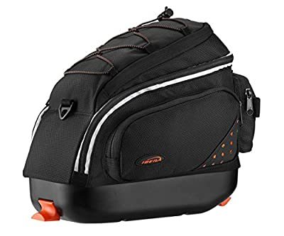 Ibera PakRak Quick-Release Mini Commuter Bike Trunk Bag (Only compatible with IB-RA6 Rack)