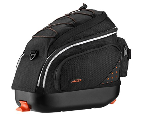 Ibera PakRak Quick-Release Mini Commuter Bike Trunk Bag (Only compatible with IB-RA6 Rack) Explorer Padded Seat