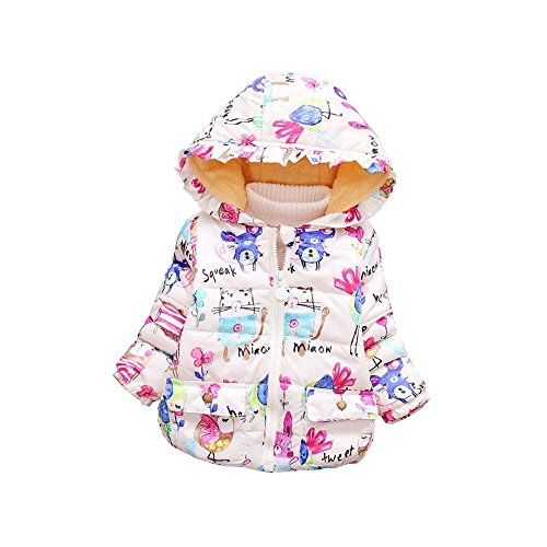Snow Baby Bunting Costume White (BibiCola Baby Girls Winter Coat Children's Parkas Winter Jackets Girls Clothing For Girls Jacket Clothes for Baby Girls Kids (3T,)