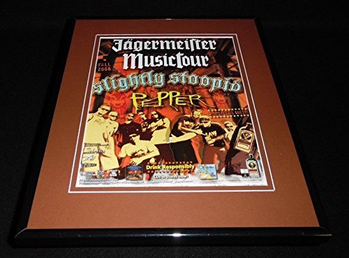 Slightly Stoopid Pepper 2006 Jagermeister Music Tour Framed 11x14 Advertisement