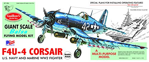 Guillow's Vought F4U-4 Corsair Model Kit for sale  Delivered anywhere in USA