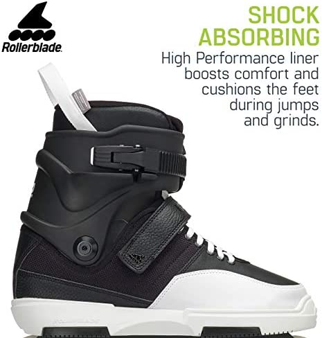 Rollerblade NJ Team Unisex Adult Street Inline Skate, Black and White, High Performance Inline Skates