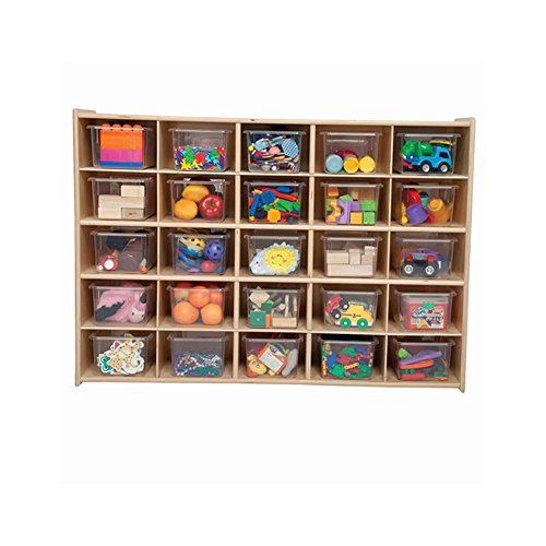 Wood Designs C16001 25 Tray Storage with Clear Trays (25 Tray Storage)