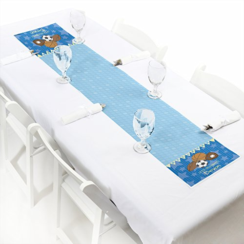 All Star Sports Table (Custom All Star Sports - Personalized Petite Baby Shower or Birthday Party Paper Table Runner - 12