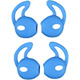 EKIND 2 Pairs Silicone Cover Earphone and Ear Hook for Apple AirPods EarPods (Blue)