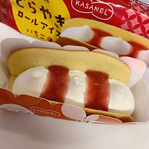井村屋 KASANEL どらやきロールアイス いちご62ml×24個