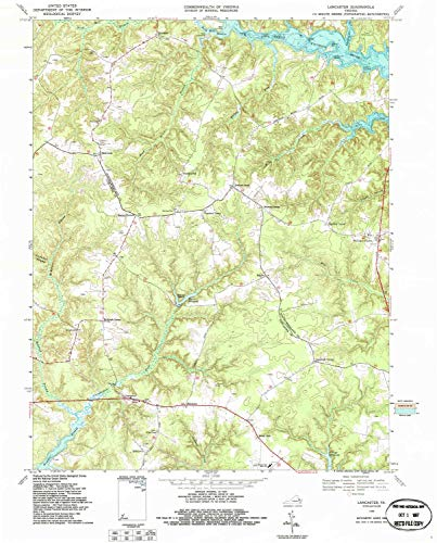 YellowMaps Lancaster VA topo map, 1:24000 Scale, 7.5 X 7.5 Minute, Historical, 1968, Updated 1987, 27.4 x 22.1 in - -