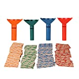 Coin Counters & Coin Sorters Tubes Bundle of 4 Color-Coded Coin Tubes
