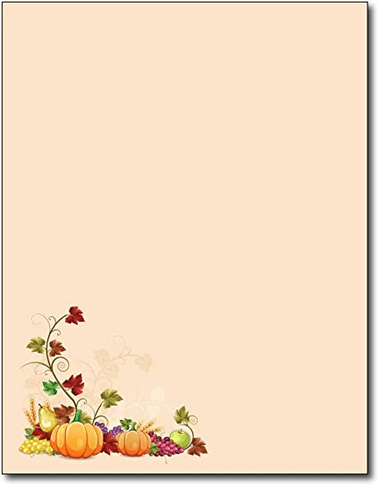 amazon com fall corner autumn stationery paper 80 sheets