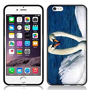 Case Fun Swans in Love TPU Rubber Back Case Cover for Apple iPhone 6 (4.7 inch)