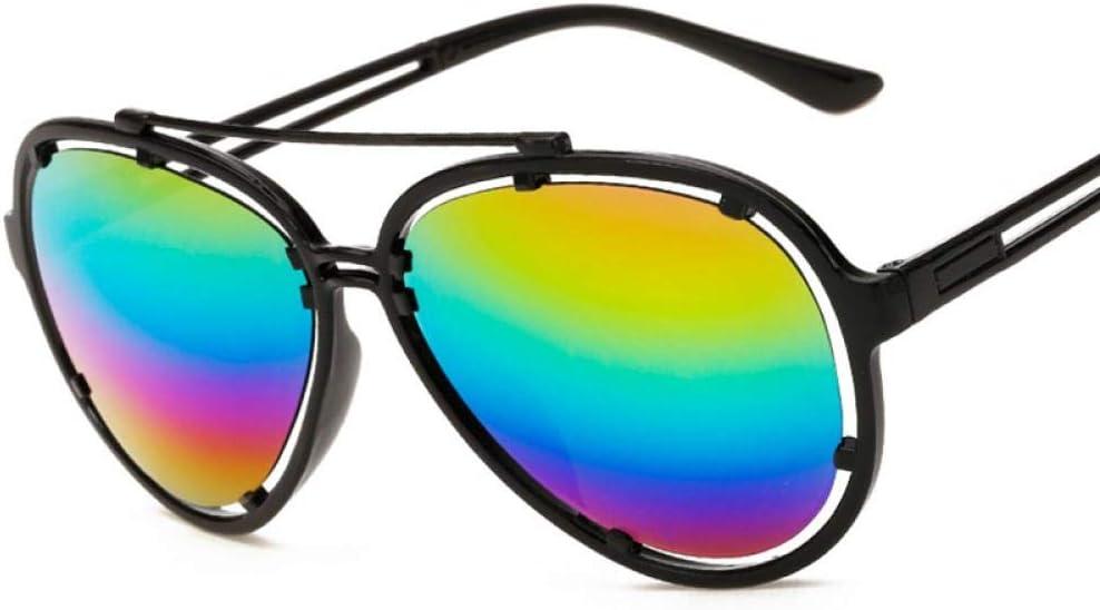 Gafas de Sol Sunglasses Gafas De Sol De Película De Color Piloto para Mujer Gafas De Sol De Arco Iris De Diseñador Superior para Mujeres Gafas De Conducción Retro Al Aire Libre Arco Iris
