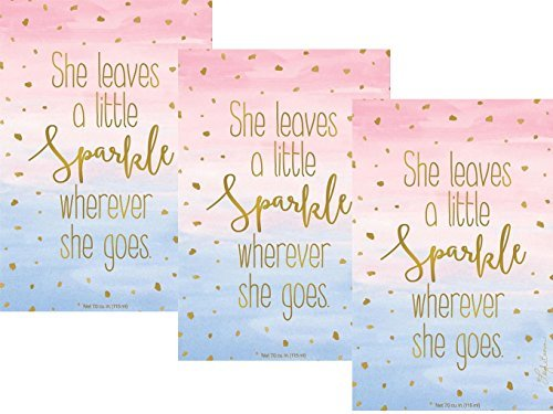 Pack of 3 Large Little Sparkle Scented Sachets Fresh Scents