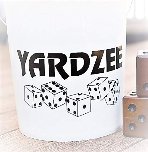 Yardzee Vinyl Decal (Black), To Put on a Large Bucket or Pail ()
