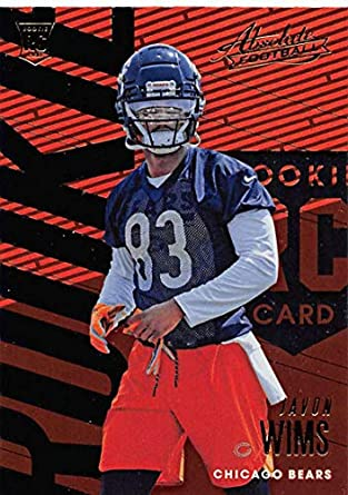 2e0897a92b2 2018 Absolute Football #115 Javon Wims Rookie RC Rookie Chicago Bears  Official NFL Trading Card