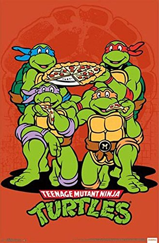 Teenage Mutant Ninja Turtles Pizza Poster Print