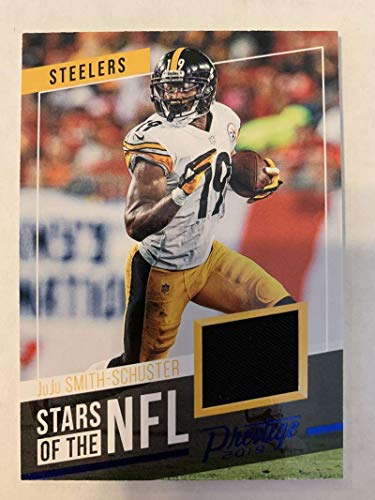 2019 Prestige Stars of the NFL Xtra Points Blue Jersey MEM #4 JuJu Smith-Schuster Pittsburgh Steelers Official Panini Football Trading Card from 2017 Prestige Football