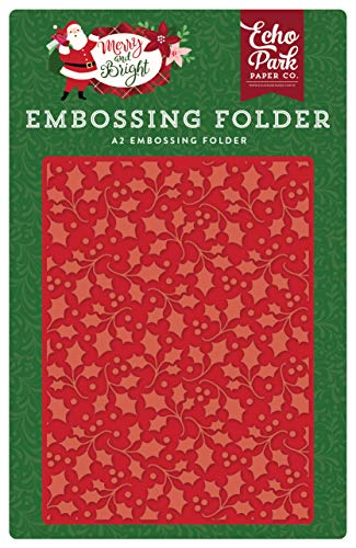 - Echo Park Paper Company MB160030 Holly Branch Embossing Folder, Red/Green/Pink/Black/Gold/Mint