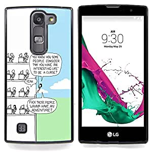 "Qstar Arte & diseño plástico duro Fundas Cover Cubre Hard Case Cover para LG G4c Curve H522Y ( G4 MINI , NOT FOR LG G4 ) (Funny Cartoon"")"