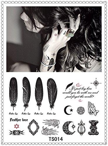 Autocollants tatouage temporaire temporaire Body Art Supermodel Stencil Designs étanche Motif Lettres Gun Tattoo
