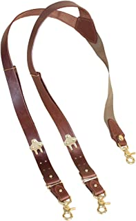 product image for Leather Suspenders No. 2, Snap Hook, Best Full-Grain, USA Made | Col. Littleton