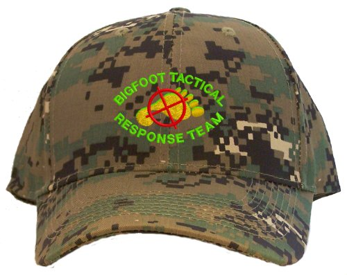 Bigfoot Tactical Response Team Embroidered Baseball Cap - Camo