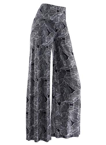Arolina Women's Stretchy Wide Leg Palazzo Lounge Pants (Large, Floral 11)