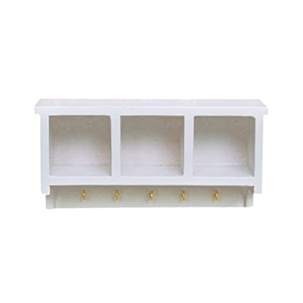 Amazon.es: 1/12 Dollhouse Mínimo Estante De Pared Aparador De Cocina ...