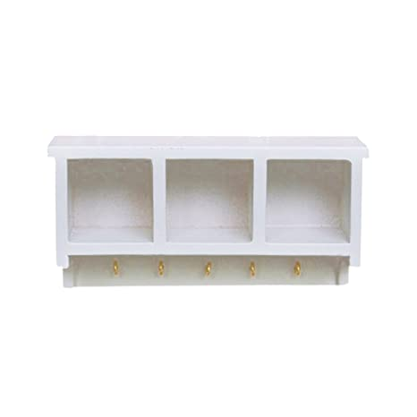 Dollhouse Miniature Furniture Decor Cabinet Shelves Bookcase Golden Patte VERY
