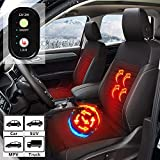 WARMITORY Heated Car Seat Cushion Covers- Universal Car Truck Leather Seat Heater with 3 Levels for...
