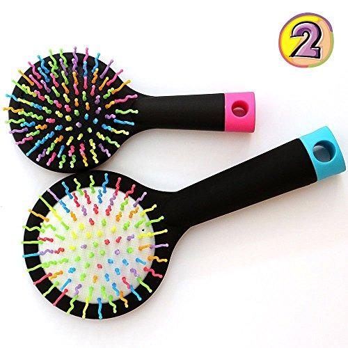 Hair Brush Comb for Wet or Dry Hair - Detangling Brush for Kids & Adults - No Tangle Brush (Black/Black) (Mini Detangling Hair Brush compare prices)