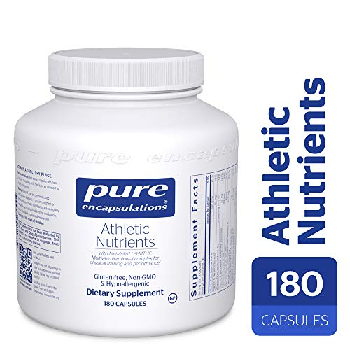 Pure Encapsulations - Athletic Nutrients - Multivitamin/Mineral Complex for Exercise Performance and Training* - 180 Capsules - Q10 Sports Nutrition