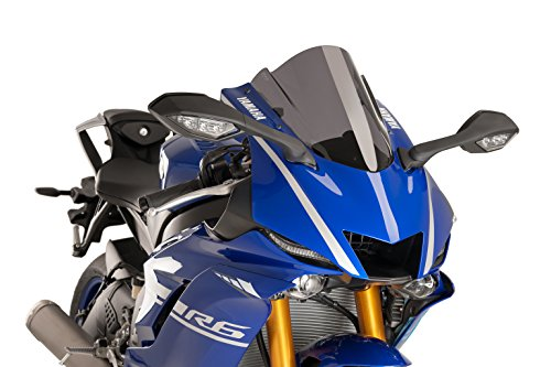 17-18 YAMAHA YZF-R6: Puig Racing Windscreen (+30mm) (Dark Smoke) (Racing Puig)