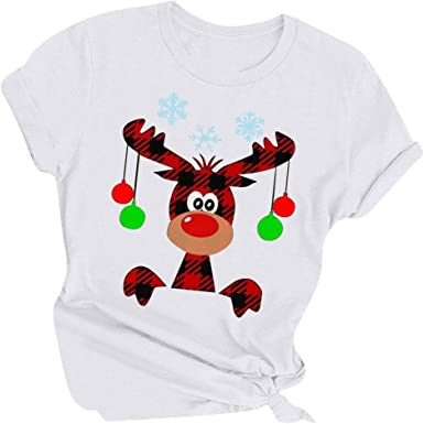 Poachers Camisetas Mujer Navidad Camisas Mujer Invierno Elegantes Blusas para Mujer Verano Sexy Cortas Camisas Mujer Verano Manga Corta Blusas Mujer Fiesta Tallas Grandes: Amazon.es: Ropa y accesorios