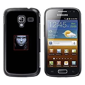 LECELL -- Funda protectora / Cubierta / Piel For Samsung Galaxy Ace 2 I8160 Ace II X S7560M -- Face Abstract --
