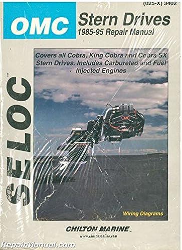 u sl3402 025 x used omc cobra stern drive boat engine repair manual rh amazon com OMC Outdrive Drawing 1972 OMC Outdrive Diagram