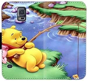 Bebé Winnie the Pooh Cotizaciones I4W8I Funda Samsung Galaxy Note caja de la carpeta de cuero 4 funda de protección 7320H3 funda personalizada del caso del tirón
